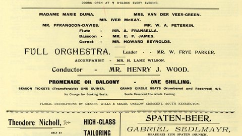 10 August 1895: The first ever 'First Night of the Proms' | Royal